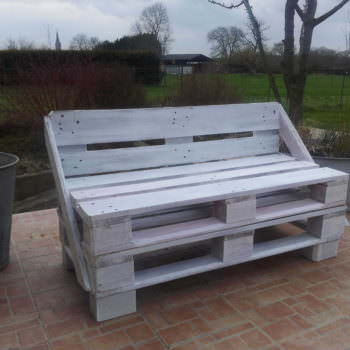 My First Pallet Bench Made From Two Reclaimed Pallets