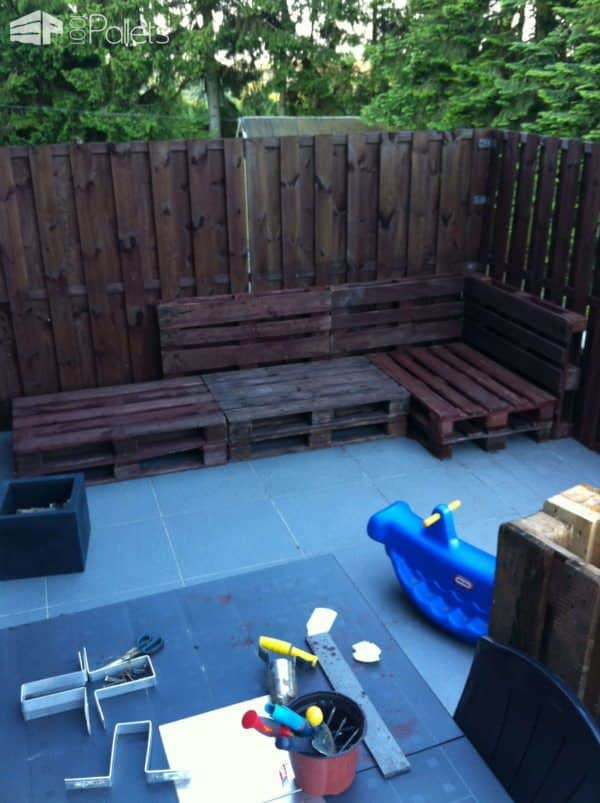 Our Outdoor Relax Sofa Made Out Of Pallets Lounges & Garden SetsPallet Sofas & Couches