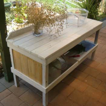 Outdoor Pallet Cooking Table