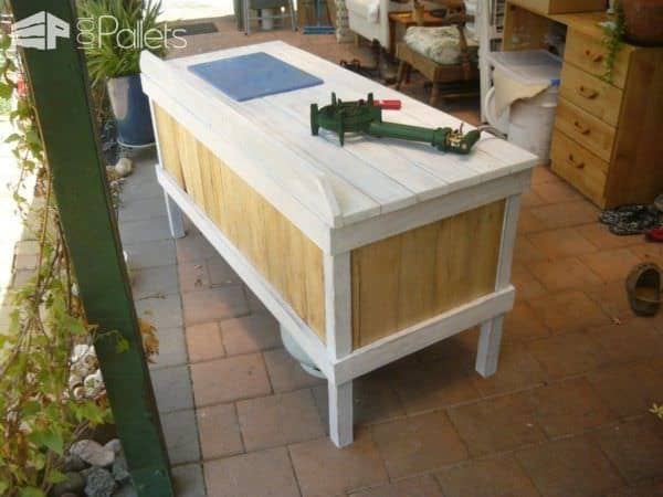 Outdoor Pallet Cooking Table Pallet Desks & Pallet Tables