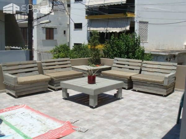 Pallet Furniture For Roof Terrace Lounges & Garden Sets