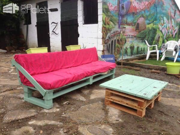 Pallet Garden Set (Sofa + Coffee Table) Pallet Coffee Tables Pallet Sofas & Couches Pallets in the Garden