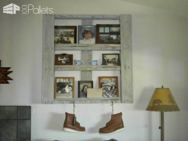 Pallet Pictures Shelf Pallet Shelves & Pallet Coat Hangers