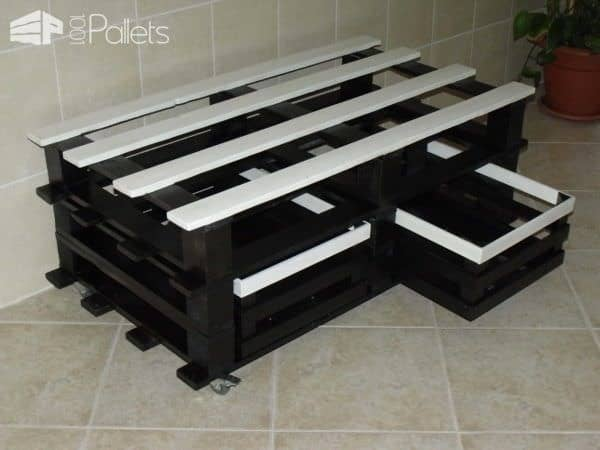 Pallet Table As A TV Stand Pallet TV Stand & Rack