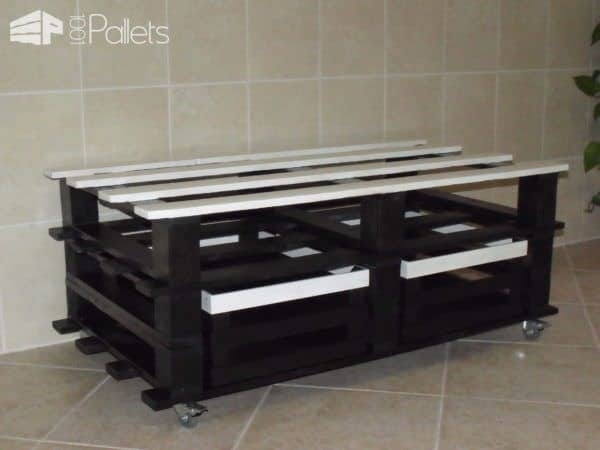 Pallet Table As A TV Stand Pallet TV Stands & Racks