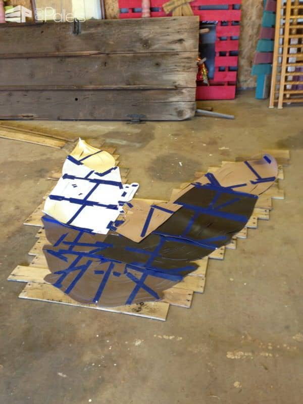 Pallet Wood Firebird & Trans Am Sign Pallet Home Accessories