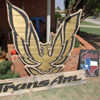 Pallet Wood Firebird & Trans Am Sign