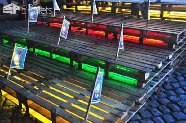 Pallets Festival Tribune Pallet Store, Bar & Restaurant Decorations