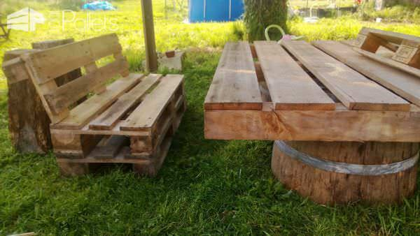 Pallets Garden Set / Salon De Jardin En Palettes Lounges & Garden Sets