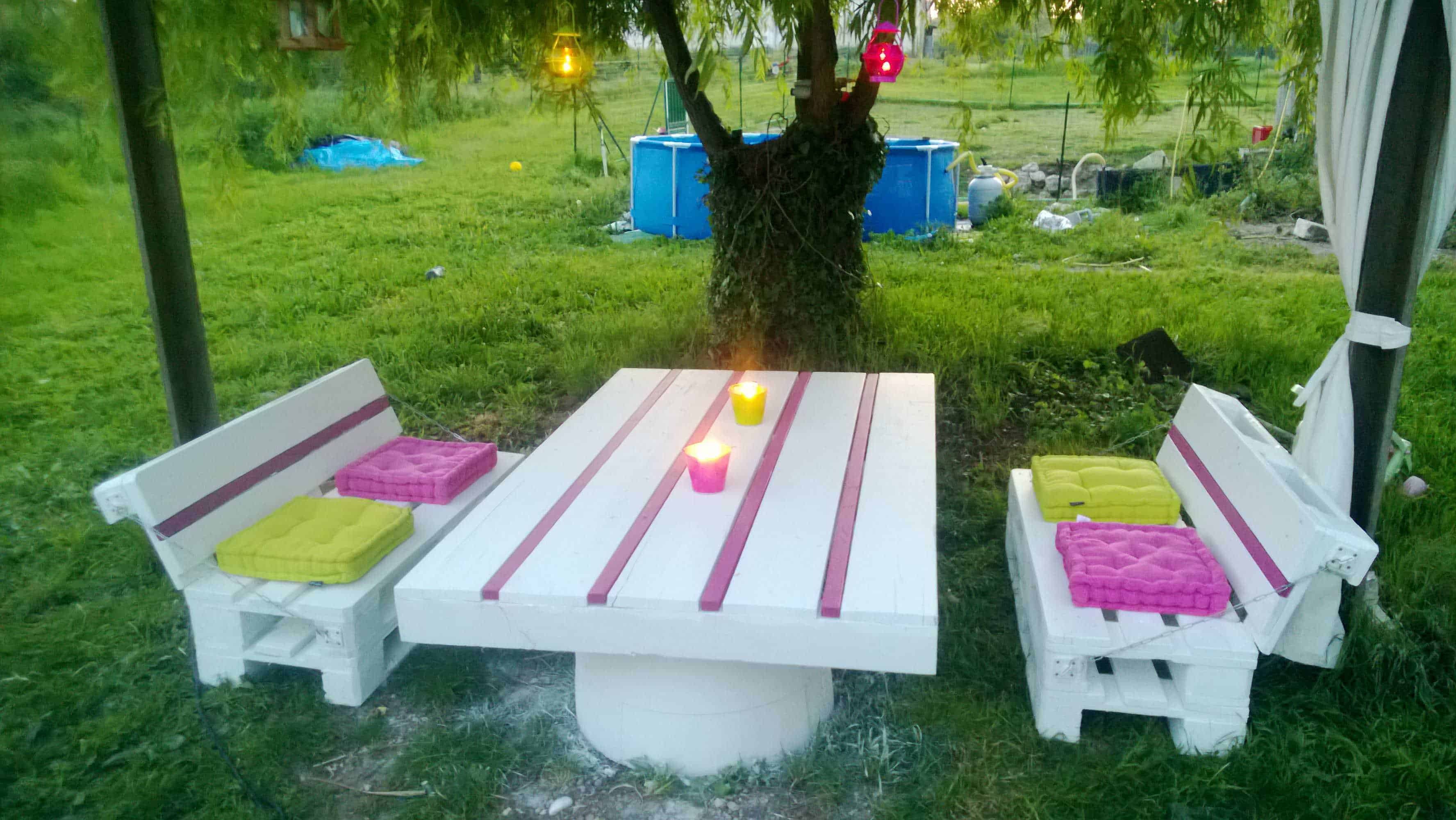 Pallets Garden Set Salon De Jardin En Palettes Pallet Ideas 1001 Pallets