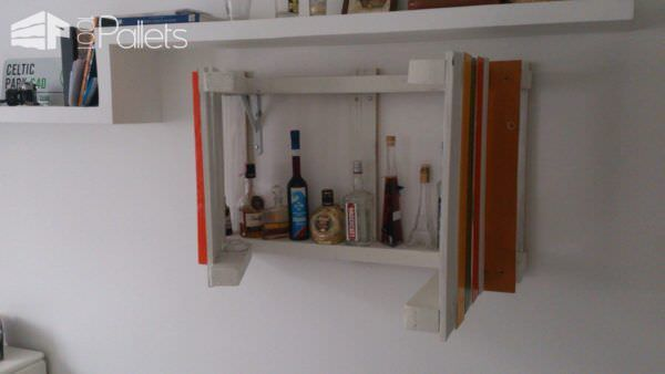 Pallets Mini Bar DIY Pallet Bars Pallet Shelves & Pallet Coat Hangers