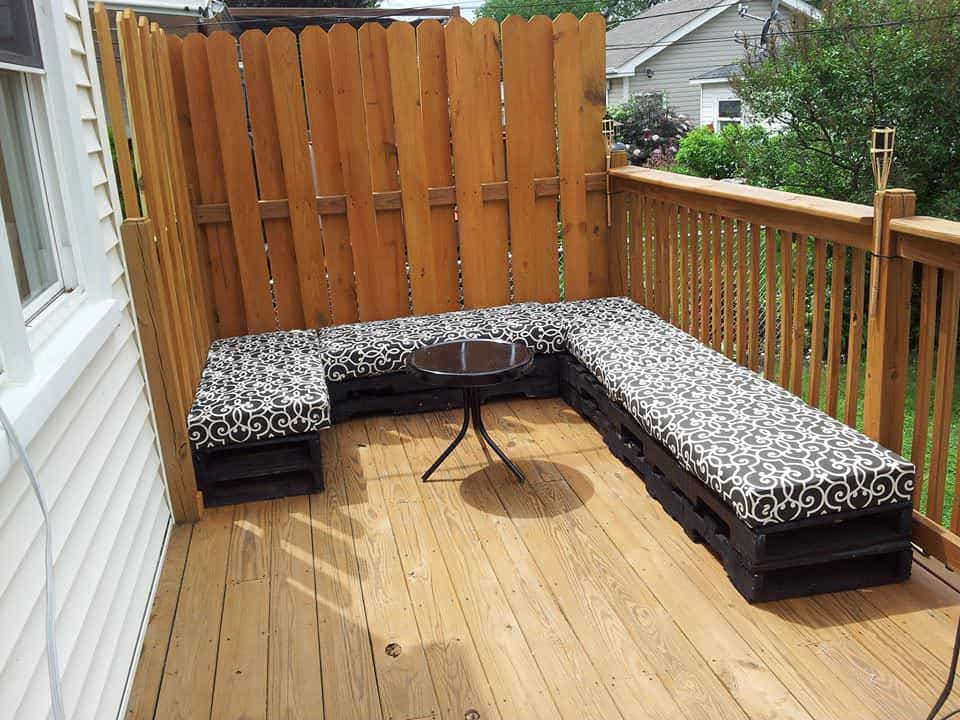 Garden Furniture Pallet patio lounge out of 12 reclaimed pallets • pallet ideas • 1001 pallets