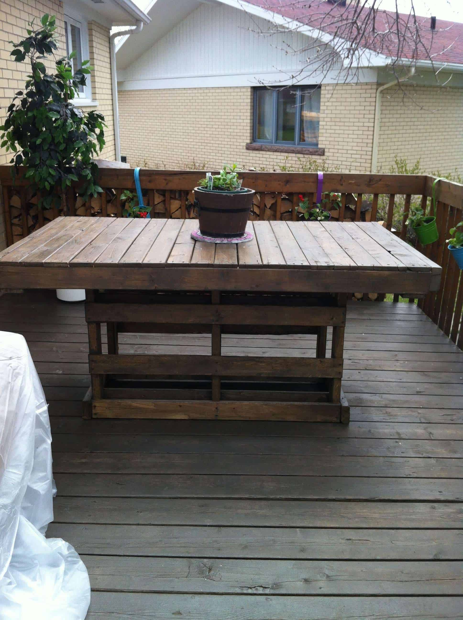 Patio From Pallets Patio Pallet Table O Pallet Ideas O 1001 Pallets