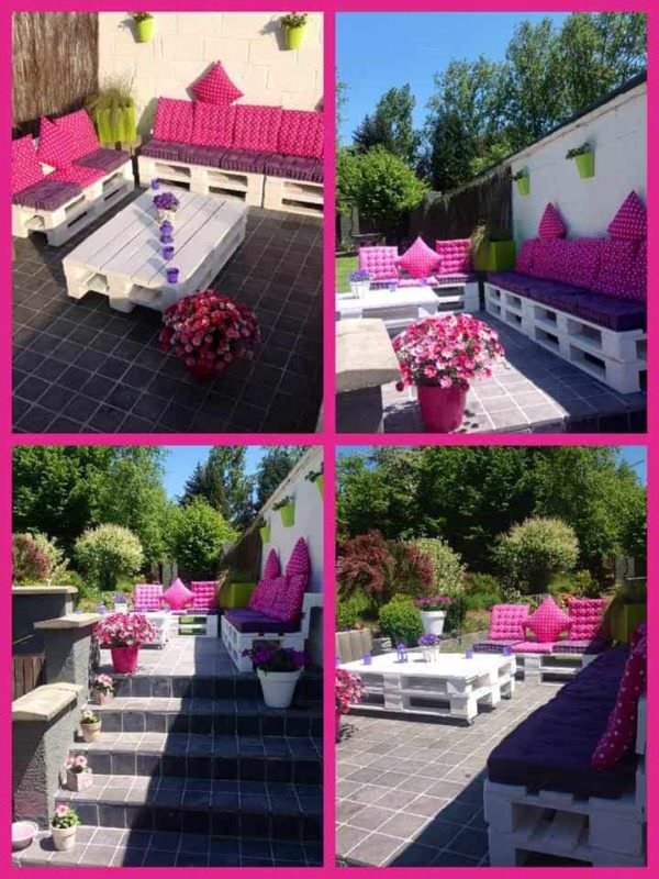 Pink Lounge: My Pallets Terrace Pallet Terraces & Pallet Patios