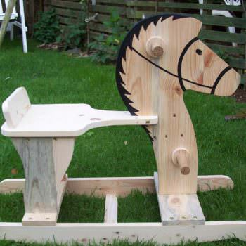 'rocco' The Rocking Horse Out Of Pallet Wood