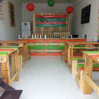 Salad Bar Pallet Furniture