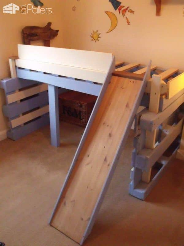 Salvaged Bed for Toddlers Made With Repurposed Pallets Fun Pallet Crafts for Kids Pallet Beds, Pallet Headboards & Frames