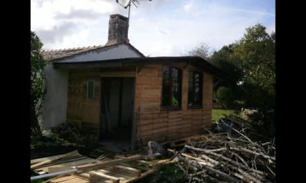 Shed Made Of 42 Recycled Wooden Pallets