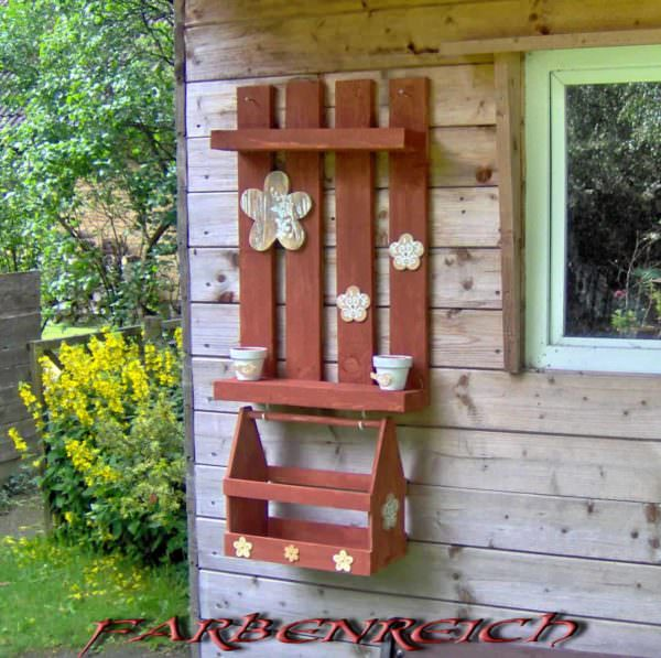 Shelves From Reclaimed Pallets / Regale Aus Paletten Pallet Shelves & Pallet Coat Hangers