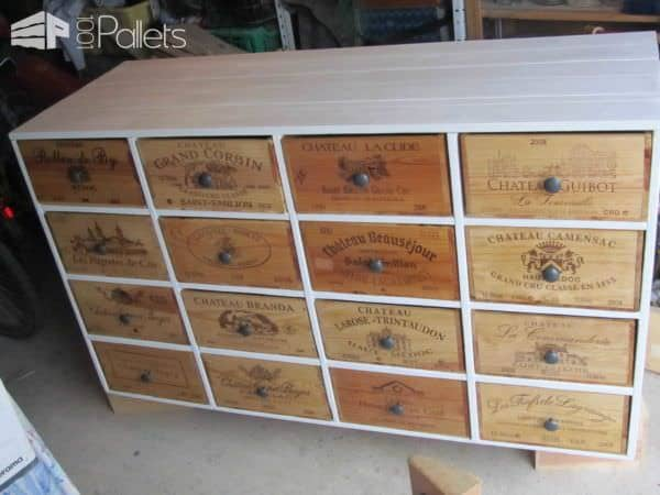 Shoe Storage From Pallets & Wine Boxes Pallet Cabinets & Wardrobes