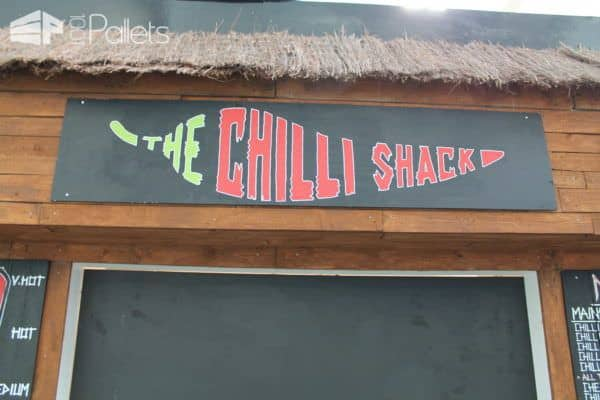The Pallet Chilli Take Away Pallet Store, Bar & Restaurant Decorations