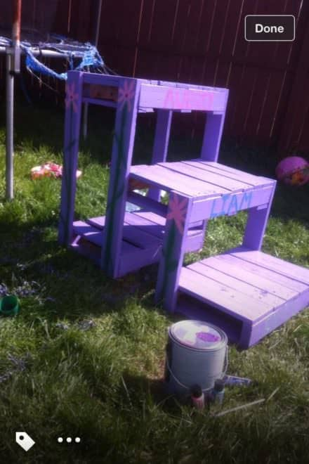 Trampoline Stair From Recycled Pallets