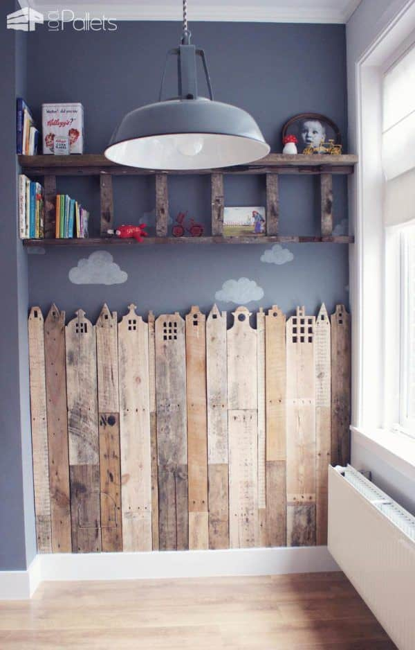 Tutorial: Pallet Creative Corner For Your Child (Houses of Holland) Fun Pallet Crafts for Kids