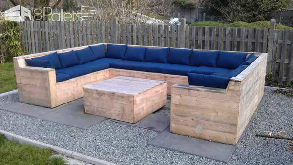 U Garden Set Made Out Of Repurposed Pallets Lounges & Garden SetsPallet Sofas & Couches