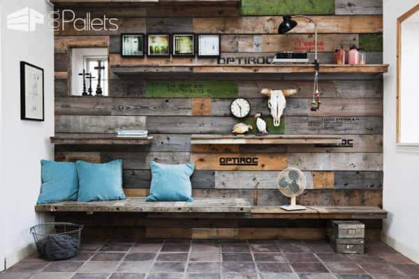 Wall Decoration Made From Pallet Sides Pallet Walls & Pallet Doors