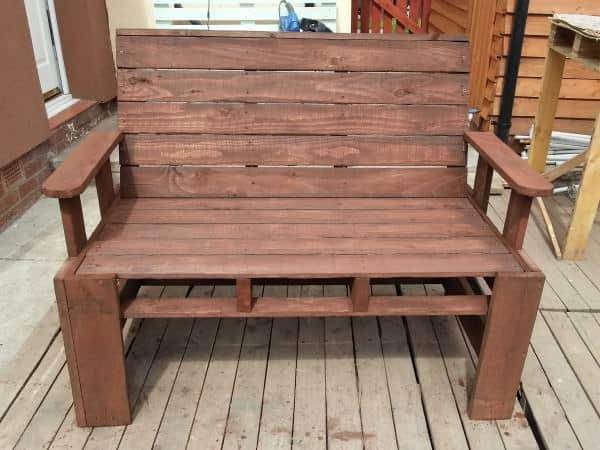 Two Seater Garden Bench From Pallets Lounges & Garden Sets Pallet Benches, Pallet Chairs & Pallet Stools