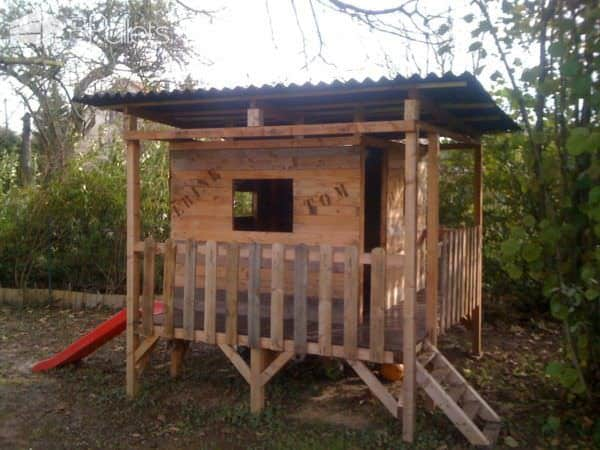 Kids Playhouse Made Out Of Pallets Fun Pallet Crafts for Kids Pallet Sheds, Pallet Cabins, Pallet Huts & Pallet Playhouses