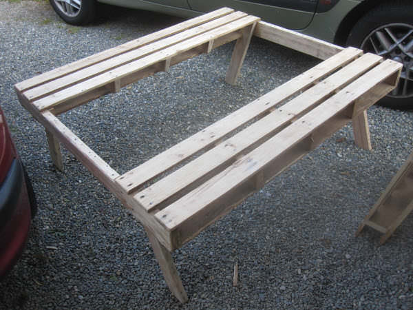 L600IMG 0469 Picnic table made with pallets for our garden in pallet garden pallet furniture  with Table Pallets Garden DIY Bench