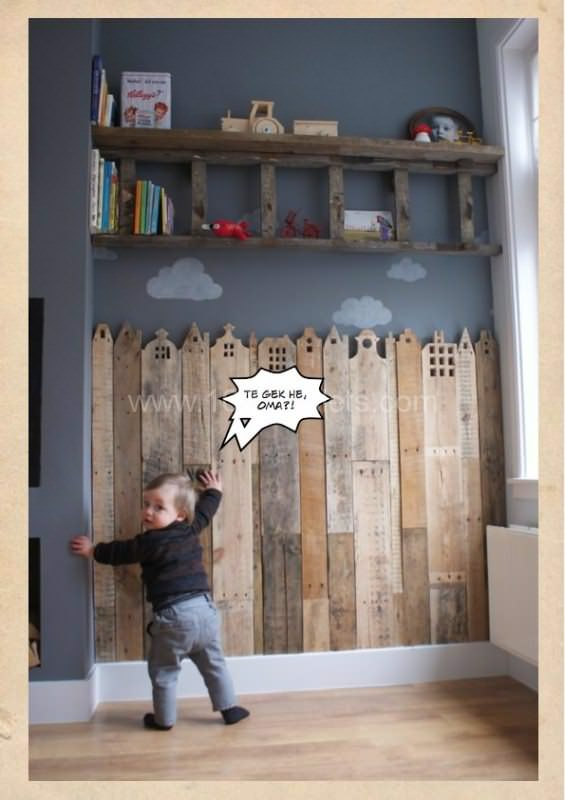 Pallet creative corner for your child | 1001 Pallets