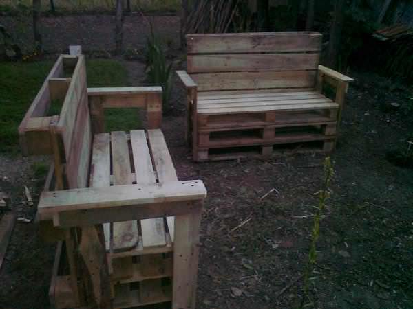 Garden Benches From Reclaimed Wooden Pallets Benches & Chairs Lounges & Garden Sets