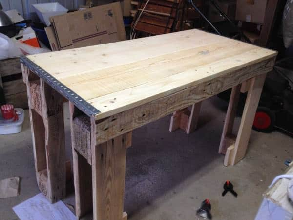 Kitchen Table From Repurposed Pallets Pallet Desks & Pallet Tables