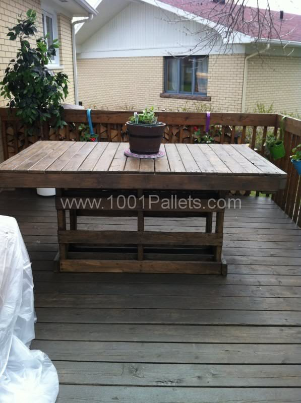 Patio pallet table 1001 pallets - Patio table made from pallets ...