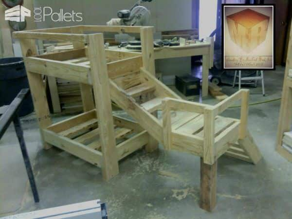Doggy Bunkbeds Made Out Of Pallets Animal Pallet Houses & Pallet Supplies