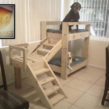 Doggy Bunkbeds Made Out Of Pallets