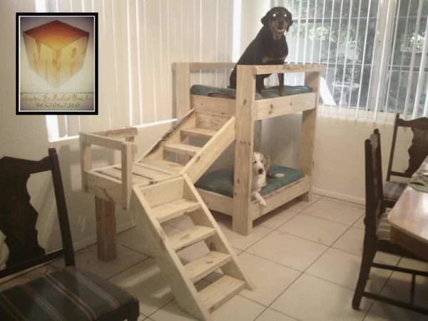Perfect Doggy Bunkbeds Made Out Of Pallets Animal Pallet Houses u Pallet Supplies