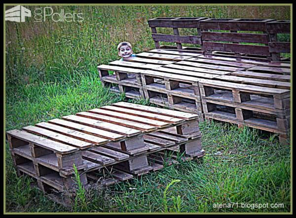 Garden Pallet Table & Bench Pallet Benches, Pallet Chairs & Stools