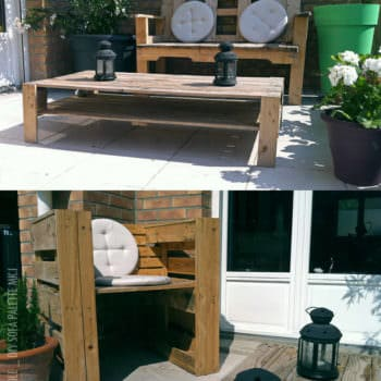 Garden Sofa From Pallets