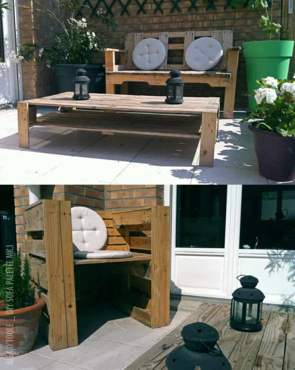 Garden Sofa From Pallets Pallet Coffee Tables Pallet Sofas