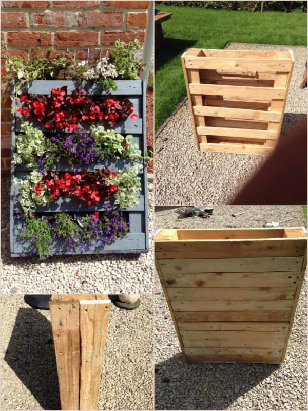 Homemade Vertical Pallet Planter Pallet Planters & Compost Bins