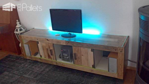 Ikea Hacking With Pallets: Expedit Pallet TV Stand & Rack
