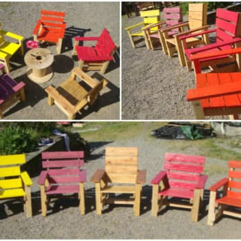 Kids Armchairs Project With Recycled Pallets
