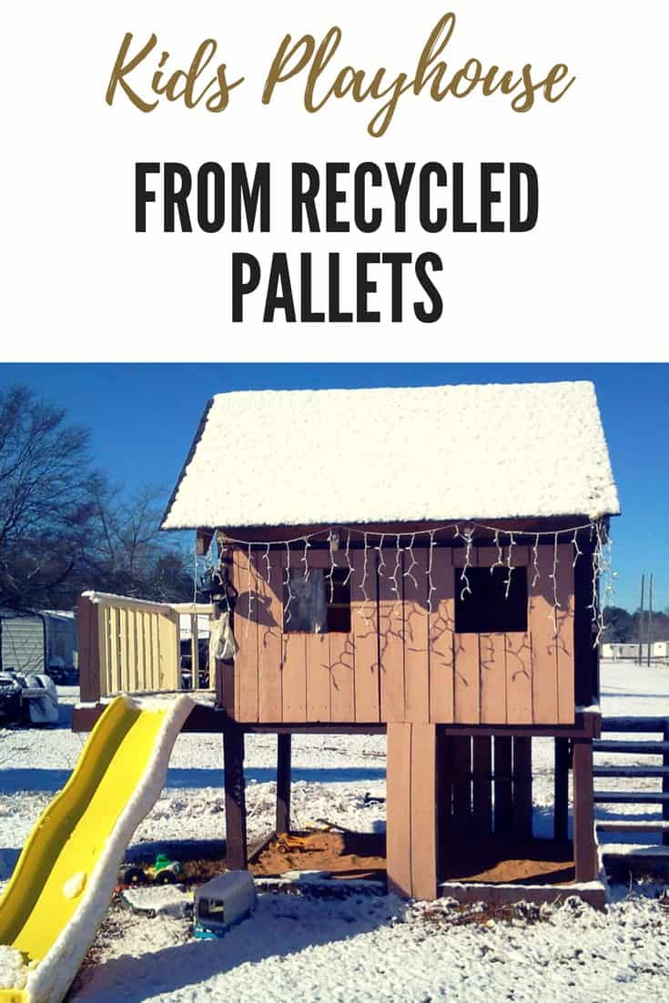 Kids Playhouse Made Out Of Repurposed Wooden Pallets