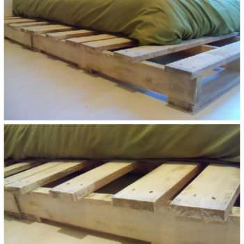 Pallet Bed Made From Recycled Pallets