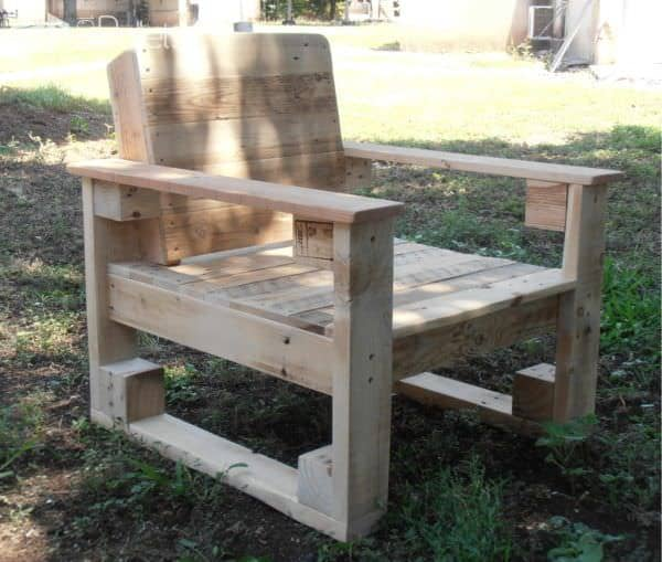 Pallet Chair For Outdoor Use Pallet Benches, Pallet Chairs & Stools