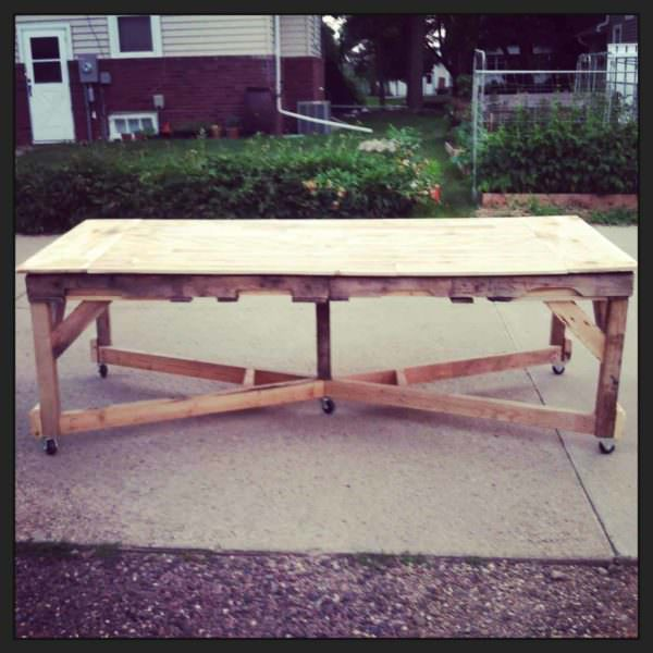 Pallet Harvest Table Pallet Desks & Pallet Tables