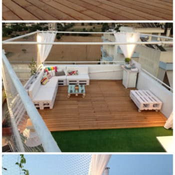 Pallet Roof Terrace Lounge